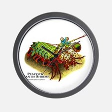 Peacock Mantis Shrimp Wall Clock
