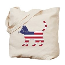 Betsy Ross Flag Cat Icon Tote Bag