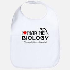 I Love Marine Biology Bib