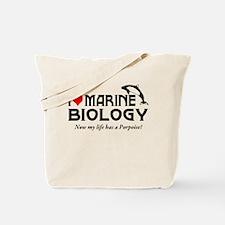 I Love Marine Biology Tote Bag