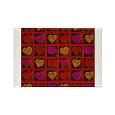 Shelving Hearts Rectangle Magnet