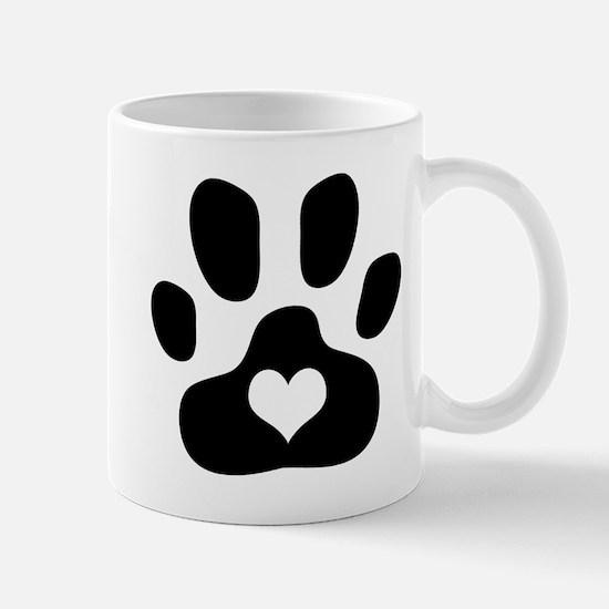 Heart Paw Print - Mug