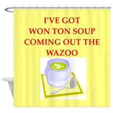 won ton soup Shower Curtain