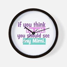If you think I'm Cute - Mimi Wall Clock