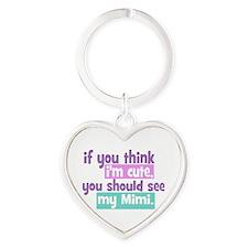 If you think I'm Cute - Mimi Heart Keychain
