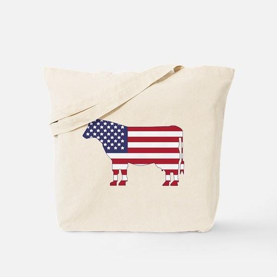 US Flag Cow Icon Tote Bag