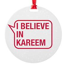 I Believe In Kareem Ornament