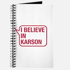 I Believe In Karson Journal