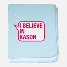 I Believe In Kason baby blanket