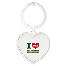 I love my Sri Lankan Girlfriend Heart Keychain