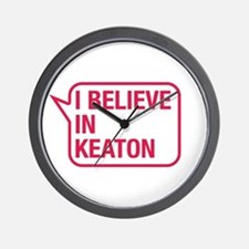 I Believe In Keaton Wall Clock