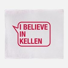 I Believe In Kellen Throw Blanket