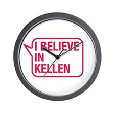 I Believe In Kellen Wall Clock
