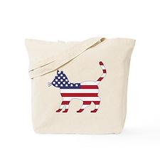 US Flag Cat Icon Tote Bag