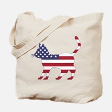 US Flag Cat Icon Tote Bag