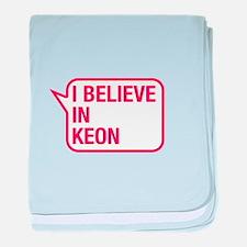 I Believe In Keon baby blanket