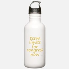 term limits for congress now Water Bottle