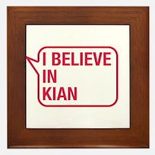 I Believe In Kian Framed Tile