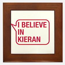 I Believe In Kieran Framed Tile