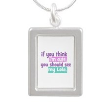 If you think I'm Cute - Lola Silver Portrait Neckl