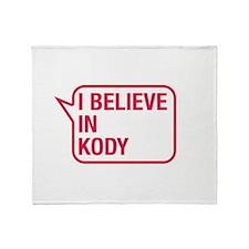 I Believe In Kody Throw Blanket