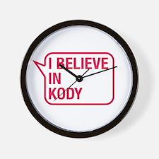 I Believe In Kody Wall Clock