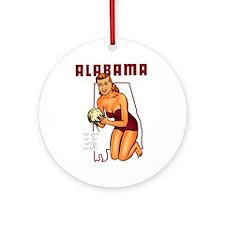 Vintage Alabama Pinup Ornament (Round)