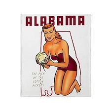Vintage Alabama Pinup Throw Blanket