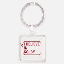 I Believe In Kolby Keychains