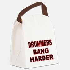 DRUMMERS BANG HARDER Canvas Lunch Bag