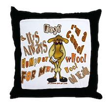 Funny Camel HumpDay -Light Throw Pillow