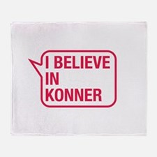 I Believe In Konner Throw Blanket