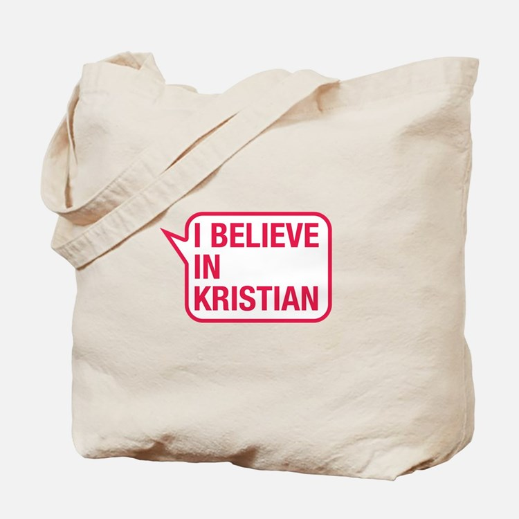 I Believe In Kristian Tote Bag