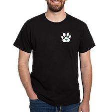 Rainbow Heart Paw Print - T-Shirt