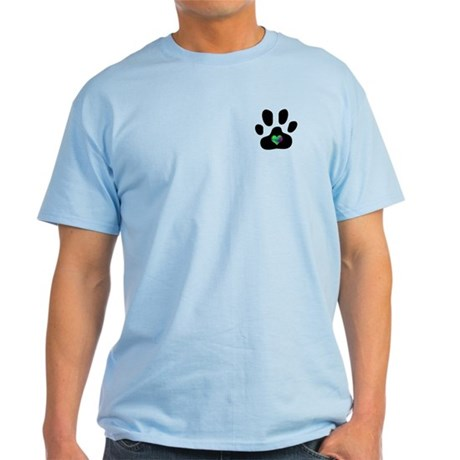 Rainbow Heart Paw Print - Light T-Shirt