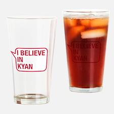 I Believe In Kyan Drinking Glass