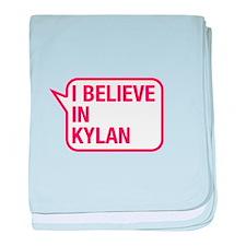 I Believe In Kylan baby blanket