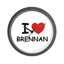 I love Brennan Wall Clock