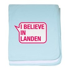 I Believe In Landen baby blanket