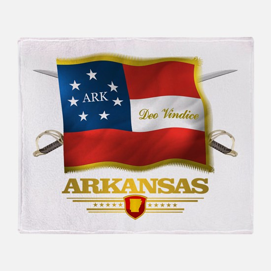 Arkansas -Deo Vindice Throw Blanket