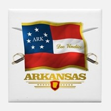 Arkansas -Deo Vindice Tile Coaster