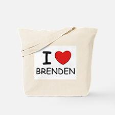 I love Brenden Tote Bag