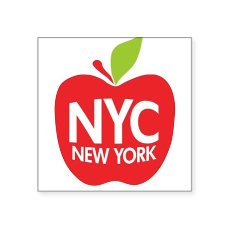 Big Apple Green NYC Rectangle Sticker