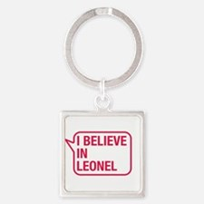 I Believe In Leonel Keychains