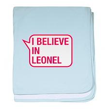 I Believe In Leonel baby blanket