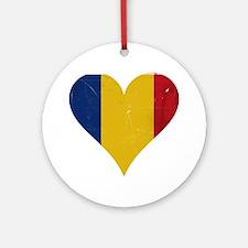 Romania heart Ornament (Round)