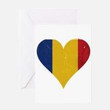 Romania heart Greeting Card