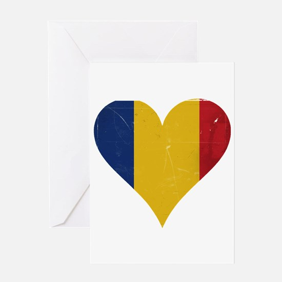 Romania heart Greeting Card