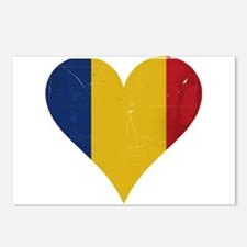 Romania heart Postcards (Package of 8)