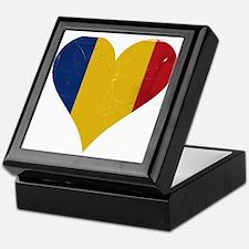 Romania heart Keepsake Box
